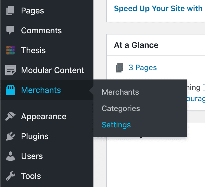 FMTC Datafeed settings via the WordPress Dashboard menu